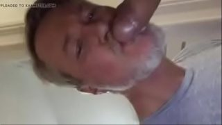 Daddy cumming in daddy's mouth