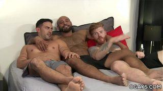 Bareback Anal 3some – Cesar Rossi, Bennett Anthony, Leo Forte