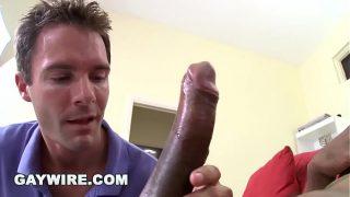 GAYWIRE – White Boy Cameron Kincade Loves Izzy's Big Black Cock!