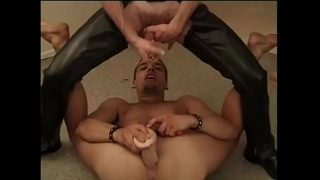 Bald hitch hiker on the Hershey highway in leather chaps Dean Butler begs blond y. rent-boy to poke his asshole
