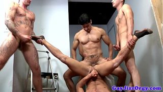 Very rough group sex for Alex Andrews